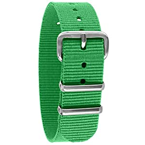 Pacific Time Unisex Nylon Uhrenarmband 10004