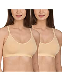 Tweens Racer-Back Wirefree Sports Bra with Removable Pads Pack of 2