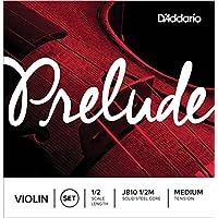 Juego de cuerdas para violín Prelude de D'Addario, escala 1/2, tensión media.