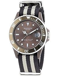 MADISON NEW YORK Unisex-Armbanduhr Candy Time Sailor Analog Quarz Nylon U4616-71/1