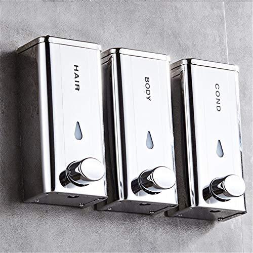 QinWenYan Seifenspender Edelstahl-Seifenspender for Gewerbliche Badezimmer, Seifenflasche Zur Wandmontage, Duschgelbox, Kann Einfach An Jeder Wand Installiert Werden Flüssigseifenspender