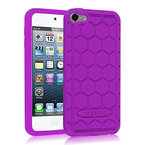 Preisvergleich Produktbild Fintie iPod Touch 6 Hülle - [Bienenstock Serie] Leichte Rutschfeste Stoßfeste Silikon Schutzhülle Tasche Case für Apple iPod Touch 6G 6. Generation 2015, Violett