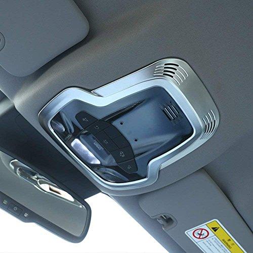 car-styling ABS matt chrom innen Dekor Front Row Dach Leselampe Zubehör Rahmen Cover Trim Aufkleber für Romeo Giulia Stelvio 2017