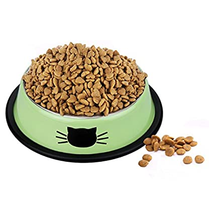 Comsmart Cat Bowl, Anti-slip Cat Food Bowl/Cat Feeding Bowl/Cat Water Bowl, Multi-purpose Double Pet Feeding Bowl (White… 2