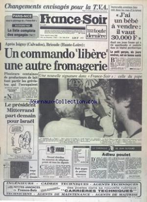 FRANCE SOIR [No 11677] du 02/03/1982 - G...