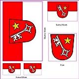 UB Aufkleberbogen Worms Set Flagge/Fahne (Autoaufkleber)