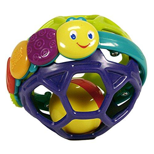 Bright Starts 8863 Flexi Ball, farbenfroher, mit Rasselball