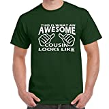Herren Lustige Sprüche coole fun T Shirts-Awesome Cousin Looks Like tshirt-FGN-WHI-M
