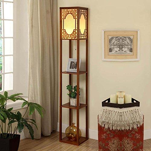 Stehlampe Regal Nachttischlampe Schlafzimmerlampe Wohnzimmer Buch Licht Bücherregal (Color : A) -