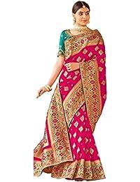 Aarti Apparels Women's Designer Silk Saree_Pink_GRACEFUL-1001
