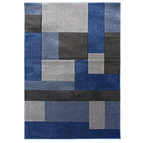 Flair Rugs Hand Carved Cosmos Teppich (120cm x 170cm) (Blau/Grau)