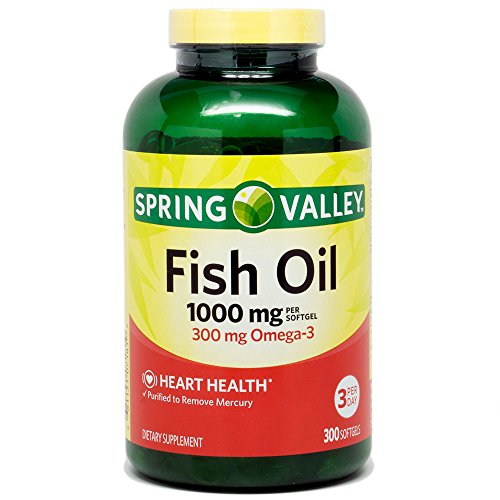 Spring Valley - Fish Oil 1000 mg, 300 Softgels by Wal-Mart Stores,...