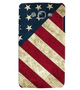 Citydreamz America Flag/USA Hard Polycarbonate Designer Back Case Cover For Samsung Galaxy E5