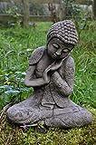 Repos Gallois Bouddha en pierre pour décoration de jardin/Statue/Sculpture