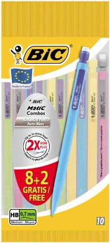 bic-matic-paquete-de-10-portaminas-de-07-mm-colores-varios