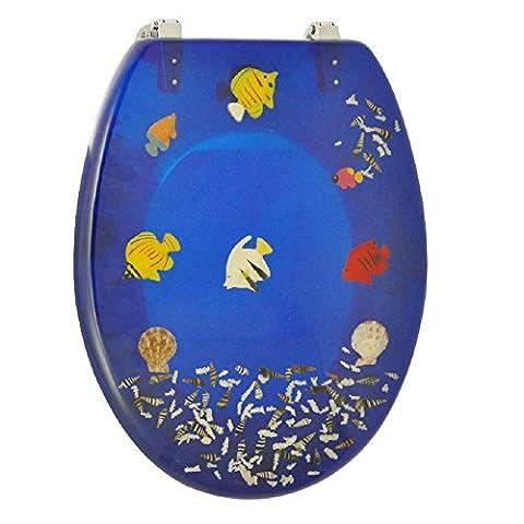 Design Toilettensitz UNIKAT / Wc Deckel / Toilettendeckel / Klositz mit Fische Motiv / Meer / Wasser / WC Sitz / Antibakteriell