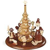 NUOVA piattaforma di motivo per il Natale del padre di Music Box elettronico e l'angelo del regalo, 15cm non dipinto, ø15cm