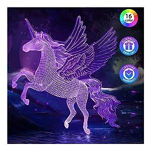 Lampara Unicornio Regalos Niños Niñas