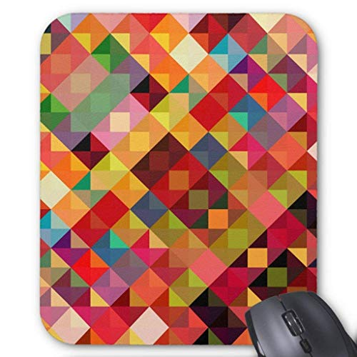 Computer Accessories Anti-Friction Wristband Colorful Geometric Fine Art Mouse Pad 18X22 - Rainbow Fine Art