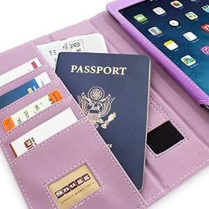 Snugg Leather Case with Flip Stand for Apple iPad Mini/Mini 2 (Purple)