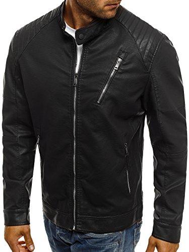OZONEE Herren Jeansjacke Übergangsjacke Jacke Denim Sweats Sweatjacke Frühlingsjacke Jeans OTANTIK 474 Schwarz_JB-1030K