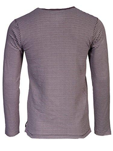 TREVOR'S KENNETH Herren Sweatshirt mit Rundhalsausschnitt und Streifen aus 100% Bio-Baumwolle - soziale fair trade Kleidung, Mode vegan und nachhaltig Color loft, Size S - 2