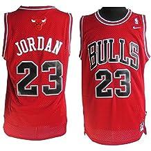 Camiseta de Chicago Bulls, Michael Jordan, roja Para hombre talla XL