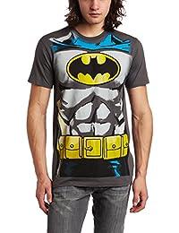 DC Comics Batman Muscle Costume With Logo Charcoal Adult T-shirt Tee (X-Large)
