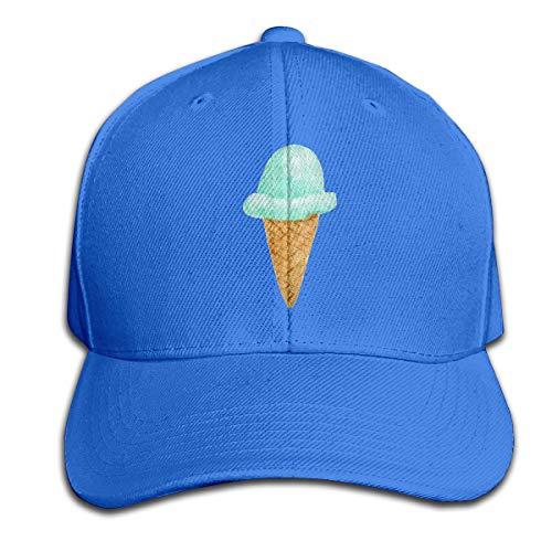 Osmykqe Ice Cream Unisex Sommer Sonnenhut einstellbar lässig Golf Tennis Caps