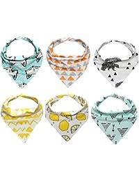 Koly 6pcs impermeable Toalla Pañuelo para Bebés y Niños triángulo de los baberos (B)