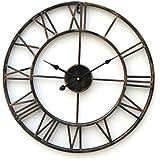'Classic - reloj de pared grande moderno, metal diseño rústico, 51 cm