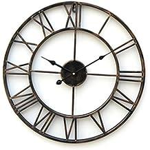 uclassic reloj de pared grande moderno metal diseo rstico