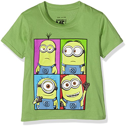 Minions T-Shirt, Camiseta para Niños, Verde (Kiwi), 5-6 Años