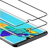 Zloer [Pack de 2] Huawei P30 Pro Film Protection Ecran Verre Trempé - [3D Couvir l'écran Complèt] [9H Dureté] [Anti Rayures] [sans Bulles, Facile à Installer] Protection Ecran Huawei P30 Pro