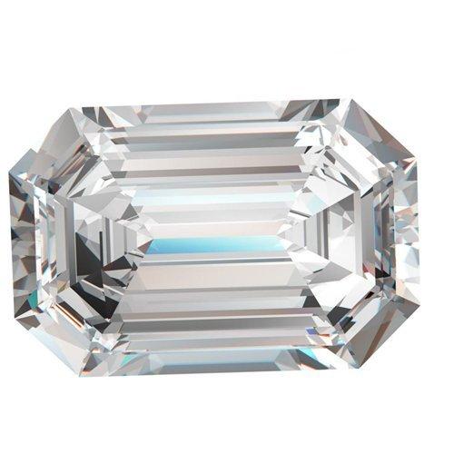 Smaragdschliff Diamant (0.78ct, D Farbe, SI2Klarheit) Gia zertifiziert