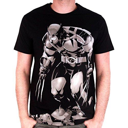 Wolverine Casual Kostüm - Wolverine - X-Men Herren Premium T-Shirt - Rage (Schwarz) (S-XL) (XL)