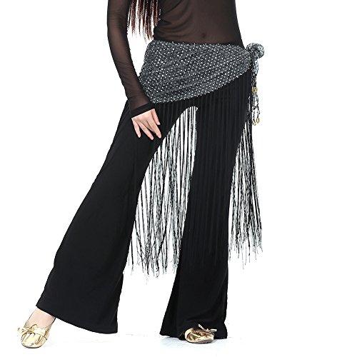 ör Taille Bund Pailletten Quasten Taille Gürtel (Exotische Gypsy Kostüm)