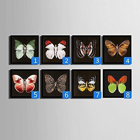 modylee colorate farfalle linoleum dipinti con pittura decorativa dipinti soggiorno camera da letto PCS1Tela pittura a olio, 60*60