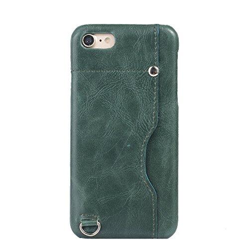 iPhone 8 Hülle, Valenth Card Slot Design Shockproof Slim Fit Schock Widerstand Schutzmaßnahmen zurück Hülle Cover für iPhone 7 iPhone 8 Grün