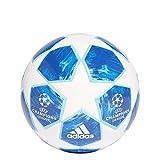 Adidas, Finale18 Mini Pallone da Calcio, da Uomo, Bianco/Blu Calcio/Ciano Brillante/Collegiate Royal, 1