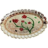 All In One Pooja Thali For All The Festival Like Diwali, Navratri, Durga Pooja,Dashera Designers Plate For Home Decor And Pooja (Mini)