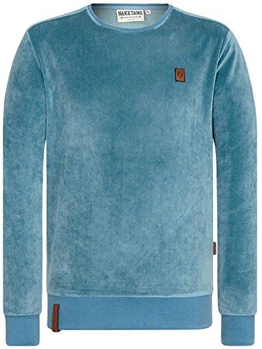 Naketano Male Sweatshirt Asgardian Mack III Dusty Blue