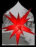 Außenstern rot 3D außen Stern Kunststoff Adventsstern Weihnachtsstern Outdoor