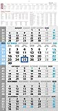 5-Monatskalender 2020 - Wandkalender - Bürokalender (33 x 63 geöffnet) - mit Datumsschieber - inkl. Jahresübersicht