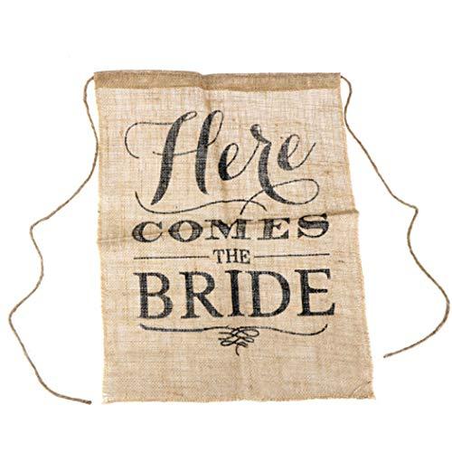 Eleusine Hochzeit Sackleinen Garten Flagge kommt Hier die Braut Zeichen Hochzeit Wegweiser Braut Zeichen Banner (Braut-zeichen Die Hier Kommt)