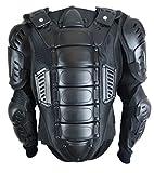 958 Motorrad Protektor Jacke mit Schlüsselbein-, Rücken- und Wirbelsäulenprotektor Schwarz M