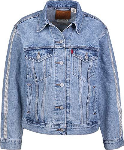 Levis Tux Stripe Trucker, Farbe:Blau, Größe:M (Männer Für Blaue Levi Jeans-jacke)