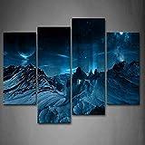 Luufei Gerahmte Wandkunst Bilder Star Gills Leinwanddruck Raum Moderne Poster Mit Holzrahmen Für Wohnzimmer Home Office Decor - 30x60x2 30x80x2