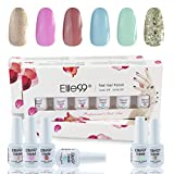 Elite99 Soak Off Gel Nail Polish 8ML UV LED Varnish Manicure 6 Colours Set C018