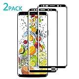 LUZQ Vetro Temperato Samsung S9 Plus [2 Pezzi], Samsung Galaxy S9 Plus Pellicola Protettiva, Durezza 9H, HD Alta Trasparenza, Pellicola Protettiva in Vetro Screen Protector per Galaxy S9 Plus (Nero)